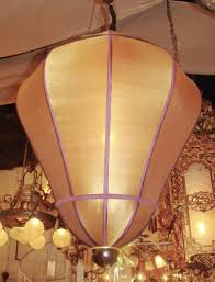 contemporary silk covered pendant chandelier