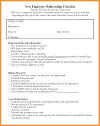 Staff Orientation Checklist New Hire Orientation Checklist Template Hiring Pre Employment