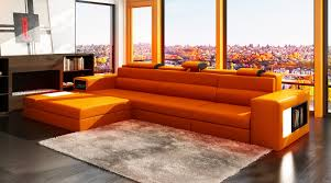 Modular Living Room Furniture Astounding Red Upholstery Leather Modular Sectional Sofa Living