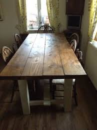 table 8ft farmhouse kitchen shabby chic annie sloan chalk painted legs