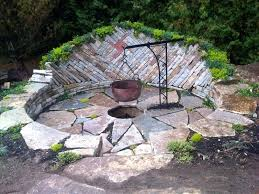 build inground fire pit picture of