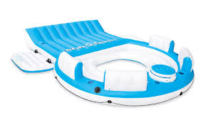 inflatable pool furniture. Intex Inflatable Relaxation Island Raft With Backrests And Cooler | 56299CA Pool Furniture T