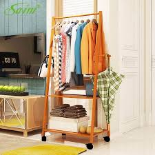 Wooden Coat Rack With Storage Magnificent Saim Fashion Garment Clothing Rack Bamboo Wood Coat Stand With