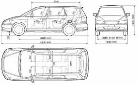 For the north american market, the honda odyssey, is a minivan manufactured and marketed by japanese automaker honda since 1994, now in its fifth generation which began in 2018. Blueprints Cars Honda Honda Odyssey