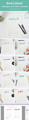 add a handmade touch to your workspace with this beautiful hand lettered 2017 printable calendar