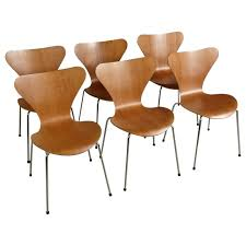 Jacobsen Series 7 Chair Set Of 6 Series 7 Dining Chairs By Arne Jacobsen For Fritz