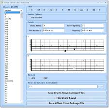Chord Chart Builder Guitar Chord Chart Software 7 0 Download