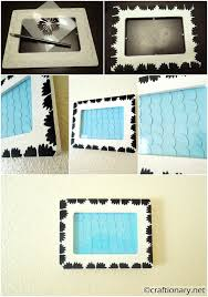 turn a simple wooden frame into something cute with only paint and paper circles