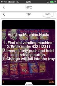 Vending Machine Change Code Best Free Money From Vending Machine? Good To Know Pinterest Free