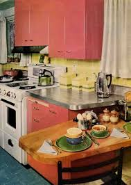 50s Kitchen Rose Red 50s Steel Kitchen And A Tile You Can Get Today Retro