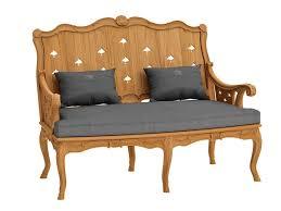 2 seater teak sofa fleur de lys sofa by astello