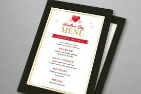 dinner template valentine dinner flyer menu template vsual