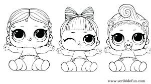 Lol Dolls Coloring Pages Surprise Doll Color Page Share With Friends