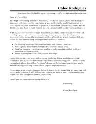 Best Way To End A Cover Letter Best Executive Assistant Cover Letter Examples Livecareer