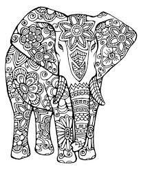 Pin By Coloring Fun On Elephants Coloring Pages Mandala Coloring