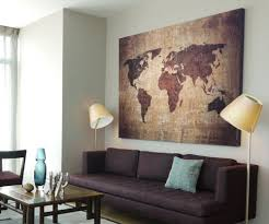Xxl Bild 145x95x5 Loft Design Leinwand Weltkarte Braun Gemälde