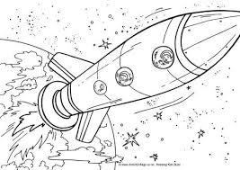 Small Picture Rocket Ship Colouring Page