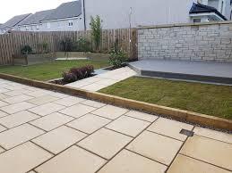 new build textured patio composite deck raised beds livingston west lothian