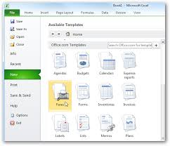 Calendar Templates Microsoft Office Beginner Using Templates In Ms Office 2010 2007