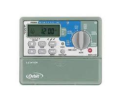 orbit station sprinkler timer indoor installation zone orbit sprinkler system 6 station standard indoor mounted control timer 57876