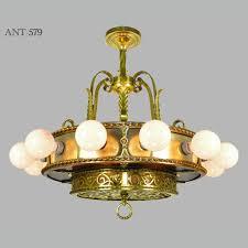 antique bare bulb 18 light chandelier 1910s 1930s ceiling fixture ant 579 for antiques com classifieds