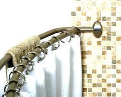curved tension shower curtain rod s bennington adjule double curved shower curtain rod oil rubbed bronze