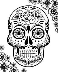 Free Printable Day Dead Coloring Pages Glandigoartcom