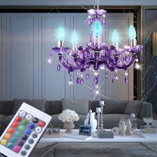 Hänge Lampe Kronleuchter Wohnzimmer Luster Pendel Lampe Dimmer Im Set Inklusive Rgb Led Leuchtmittel