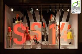 Window Display Stands Pops Of Orange And Smart Styling Make This Display Stand Out 14