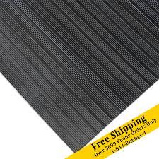 corrugated composite rib rubber runner mats