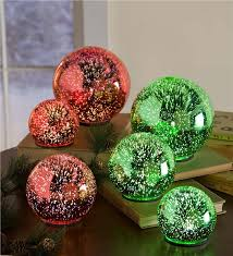 glass 3d lighted set of 3 holiday lighting