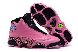 air jordan shoes for girls black. free shipping 2016 girls air jordan 13 black pink leopard print shoes for