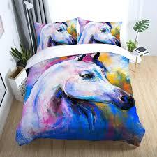 animal print duvet sets uk horse bedding set cover bedclothes