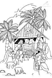 Kleurplaat Jezus En De Herdersin De Stal