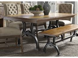 awesome liberty furniture dining table arlington trestle with metal base adcock