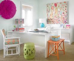 colorful home office. Colorful Home Office With White Desk I