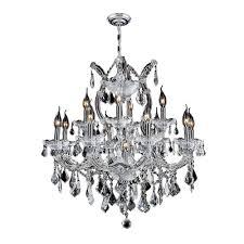 worldwide lighting maria theresa collection 13 light polished chrome and crystal chandelier
