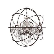 gyro crystal 32 chandelier antique rust 1