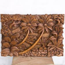 on indonesian carved wall art with jungle relief wooden panel hand carved for wall or home decor bali