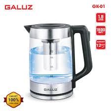 Ấm điện siêu tốc thủy tinh kiêm bình pha trà Galuz GK-01 dung tích 1.8 lít  - Hàng chính hãng, bảo hành 12 tháng - 389,000