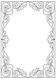 Decoratieve Abstracte Vierkante A4 Formaat Kleurplaat Frame