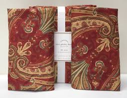 details about new pottery barn alice paisley full queen duvet cover w 2 standard shams red