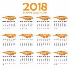 Annual Calendar 2018 Template For Free Download On Pngtree