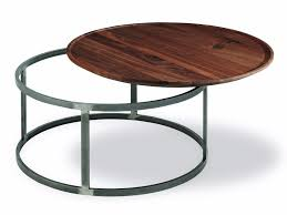 round low wooden and iron coffee table nest round coffee table by riva 1920