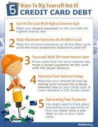 Using A Credit Card To Pay Off A Credit Card Infographic Dig Out Of Credit Card Debt