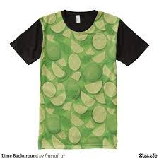 Lime Green Designer T Shirt Lime Background All Over Print T Shirt Zazzle Com