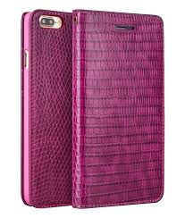 iphone 7 plus crocodile pattern rose red leather wallet case by qialino