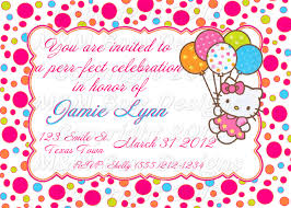 Printable Birthday Invitations Hello Kitty Free Download Them Or Print