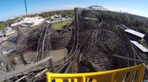 gwazi wooden roller coaster pov at busch gardens ta