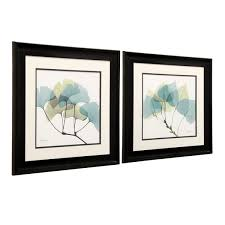 leaf framed prints wall art set of 2  on leaf wall art set with shop leaf framed prints wall art set of 2 free shipping today